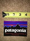 New Patagonia Classic Fitz Roy Logo Rectangle Sticker 4 long