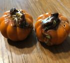 Vintage Salt and Pepper Shakers Pumpkins Halloween Thanksgiving