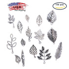 150 Leaf Style Tibetan Alloy Charms Finding for DIY JJewelry Making Pack Mix Lot