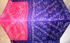 Pink Blue Pure Silk 4 yard Vintage Sari GIFT Fashionable daily new items #99NQI