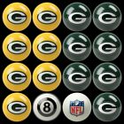 NFL Billiard Ball Set The Ultimate Green Bay Packers Fan Pool Table Ball Set