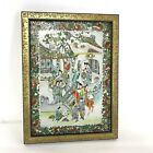 Antique Chinese Famille Verte Porcelain Plaque