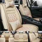 Us Stock Comfort Meshpu Leather Car Seat Cover 5-seats Suv Truck Frontrear Kit