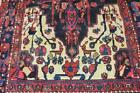 4'5x8'4 Very Nice Genuine Semi Antique Persian Bird Tribal Hand Knotted Wool Rug