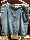 Vintage Levi Strauss Signature Mens Cargo Blue Jean Shorts 100 Cotton sz 40