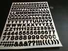 Black Letters  Numbers 2 Sheets 370 Assorted New