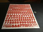 Red Letters  Numbers 2 Sheets 370 Assorted New
