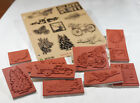 Deep Red Stamps Season of Joy Rubber Cling Stamp Collection