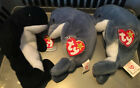 Rare Echo the dolphin TY Beanie baby with Waves tags (miss tag) Echo And Waves