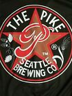 Pike Brewing Company Retro Logo Mens S Black Cycling Jersey Shirt Top 3 4 Zipper