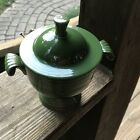Vintage Homer Laughlin Forest Green Fiestaware Sugar Bowl & Lid