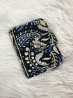 Vera Braley Women's blue foldover wallet paisely