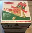 Vintage Woolworth's Christmas Cathedral Bell in Original Box Holy Night