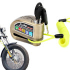 Motorcycle Scooter Alarm Disc Lock Brake Bike Loud Siren Anti-Theft Helmet Cable