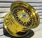 16x8 +20 4x100 Gold Chrome ESM 002R Wheels Rims BMW E30 Mini Cooper Honda VW