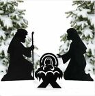 Christmas Decorations Outdoor Metal Silhouette Nativity Yard Signs