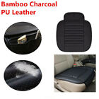 1X Car Bamboo PU Leather Protect Cushion Charcoal Full Surround Seat Cover Pad