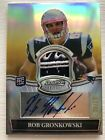 Rob Gronkowski Bowman Sterling Rookie Auto Gold Reflector Patch Card 25