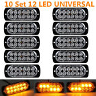 10x Amber 12 LED Emergency Hazard Warning Flash Strobe Beacon Caution Light 12V
