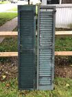 Antique Victorian Set Robins egg Blue house louvered shutters #3