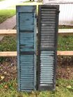 1890s Victorian Robins egg Blue house louvered shutters #4