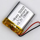 10Pcs 3.7V 190mAh Rechargeable Li-Polymer Battery Lipo 502025 for GPS Bluetooth