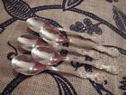 Kings Shell Sheffield Silverplate set of 5 demitasse espresso spoons