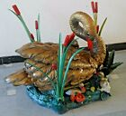Real ANTIQUE DUCK with CUB Style Coffee TABLE - HEAVY - RAREST RARE