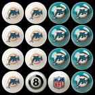 NFL Billiard Ball Set The Ultimate Miami Dolphins Fan Pool Table Ball Set
