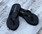NEW Authentic Coach Abbigail Black Flip Flop Sandals Size 5/6