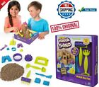 Fast Shipping Kinetic Sand Beach Day Fun Playset With Molds And Tools 12 oz New