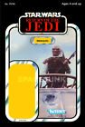 STAR WARS RETURN OF THE JEDI Weequay 1983 Repro Kenner Cardback