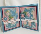 Lot of 6 Today Blooms Just for You Sweet Soiree cards made w Stampin Up