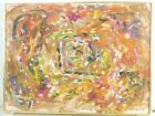 VINTAGE ABSTRACT EXPRESSIONIST PAINTING MID CENTURY MODERN Signed 1970