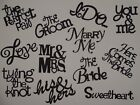 Tying the Knot Wedding word sentiments greeting card scrapbook die cuts