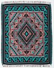 Authentic Mexico Accent Throw Native Style Blanket 4x5 Southwest Two Gray Hill