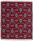 Authentic Mexico Accent Throw Native Style Blanket 4x5 Southwest Multicolored