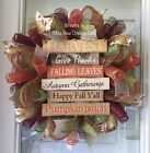 FALL HARVEST GIVE THANKS WREATH