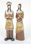 Thanksgiving Give Thanks Harvest Man and Woman Couple 10 Resin Figurines