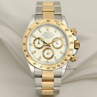 """Rolex Daytona Special """"Cream Dial"""" 116523 Stainless Steel & 18k Yellow Gold"""