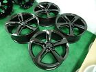 AUDI RS7 OEM FACTORY 21 WHEELS RIMS GLOSS BLACK 5X112 4G8601025AN 4G8601025AM