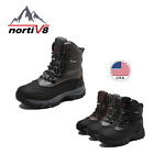 NORTIV 8 Mens Insulated Waterproof Winter Rain Snow Skii Outdoor Hiking Boots