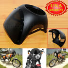 Universal 7'' Motorcycle Headlight Fairing Screen Windshield Cover Cafe Racer US