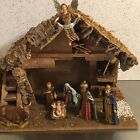 Vintage Nativity Set Creche Made Italy 8 Figures Sears Traditional Holiday Decor