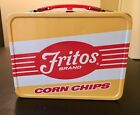 Vintage 1970s Fritos Brand Corn Chips Metal Lunch Box with Original Thermos