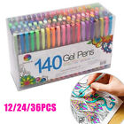 12 24 36 Pcs Colorful Gel Pen Refills Set for School Sketch Marker Art Pen Mark