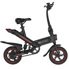 Electric Folding Bike 350w Powered Bicycle Scooter Commuter City Bikes Black