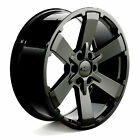 2019 Black Silverado Tahoe Wheels Chevy Rims 5662 CK162 22 Gloss Rally Midnight