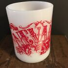 Nevada Milk Glass Mug Federal Glass Souvenir Made USA Mid Century Coffee Tea