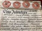 1879s Old Historical Parchment with Multiple Seals